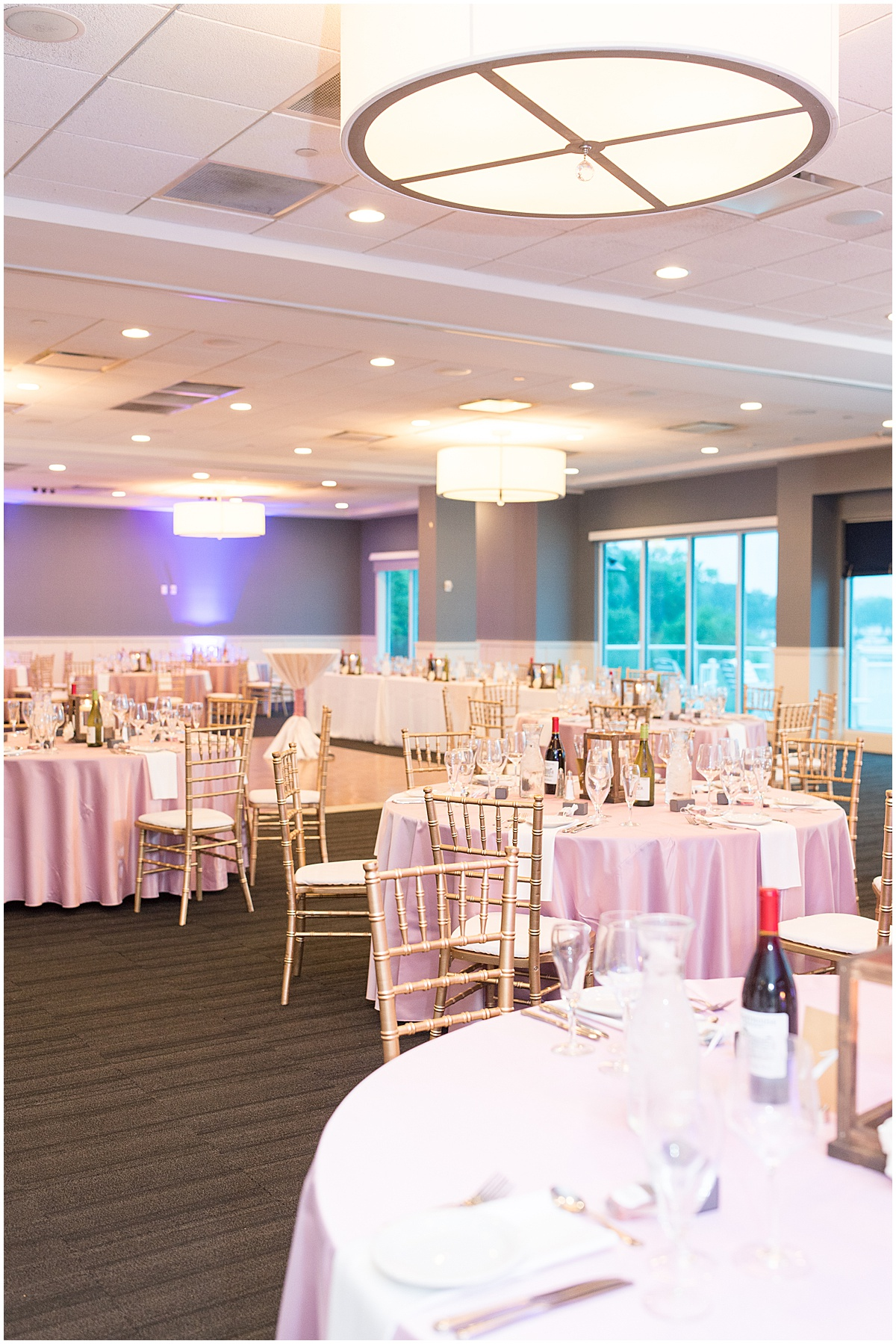 Reception venue at the Lighthouse Restaurant in Cedar Lake, Indiana