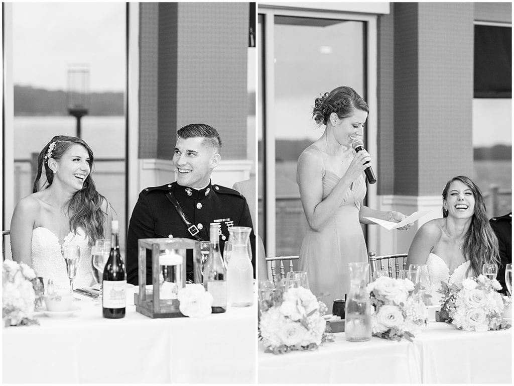 Maid of honor speech at the Lighthouse Restaurant