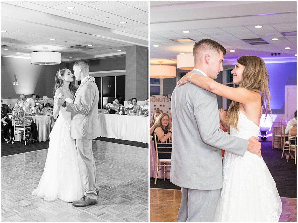 First dance during reception at the Lighthouse Restaurant in Cedar Lake, Indiana