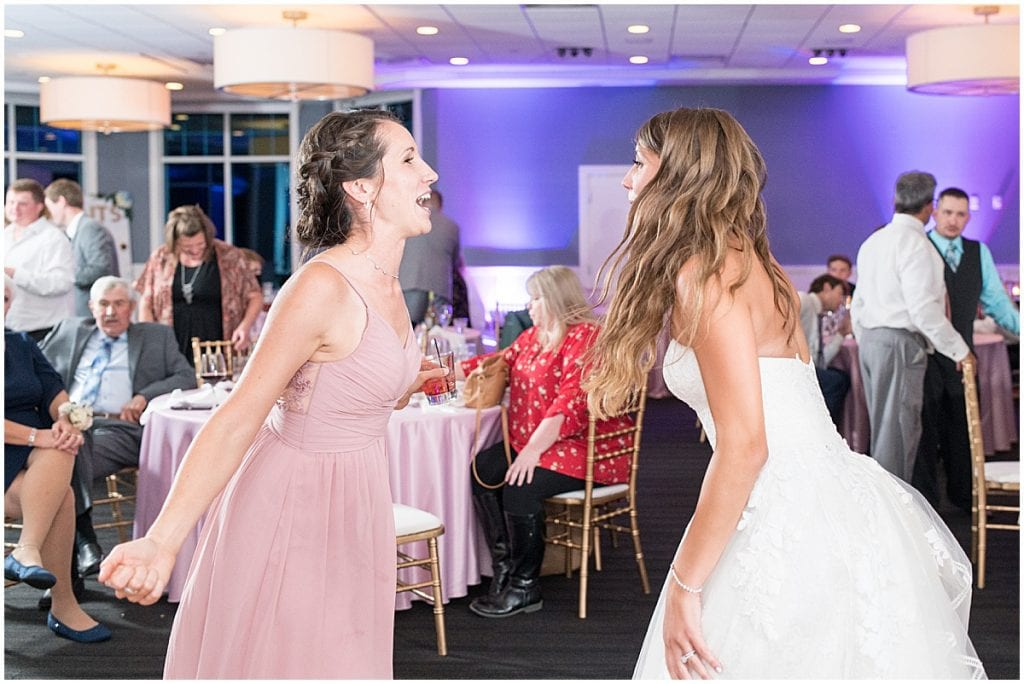 Dancing during reception at the Lighthouse Restaurant in Cedar Lake, Indiana