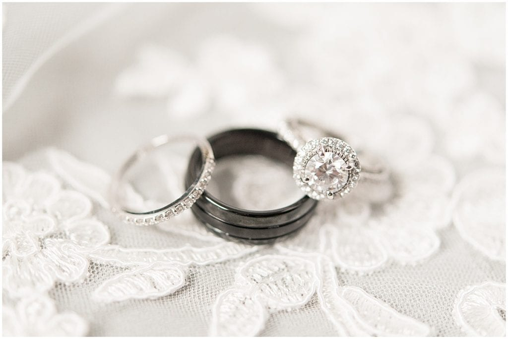 Wedding rings at the Lighthouse Restaurant in Cedar Lake, Indiana