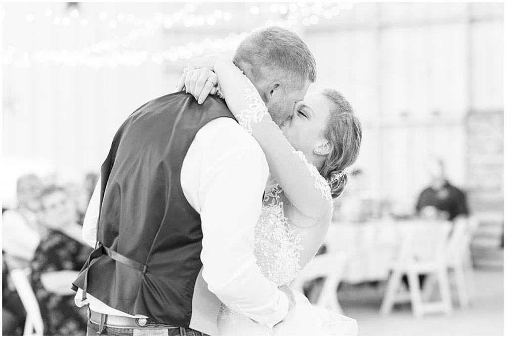First dance at Wagner Angus Barn in Wolcott, Indiana