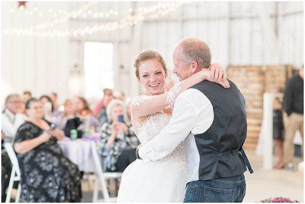 Father daughter dance at Wagner Angus Barn in Wolcott, Indiana
