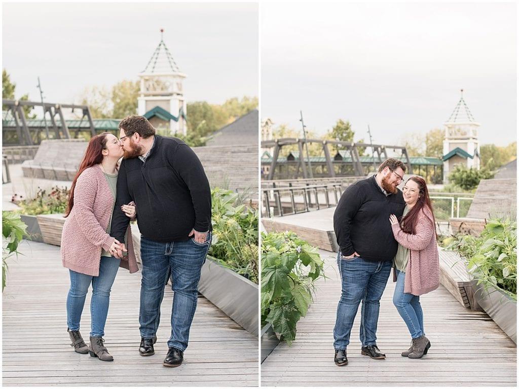 Anniversary Photos on the Lafayette, Indiana Pedestrian Bridge