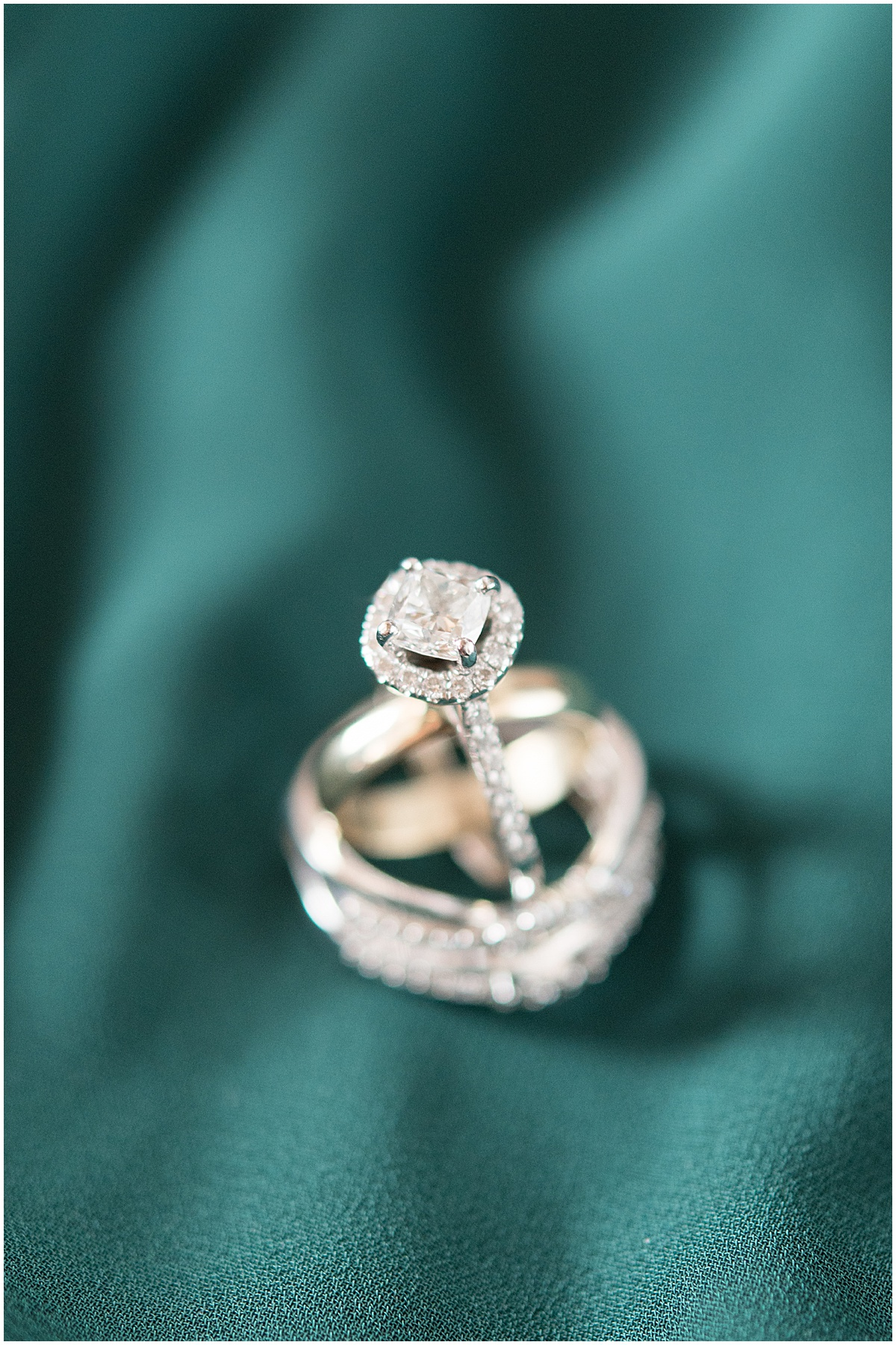 Ring details from eMbers Venue wedding in Rensselaer, Indiana