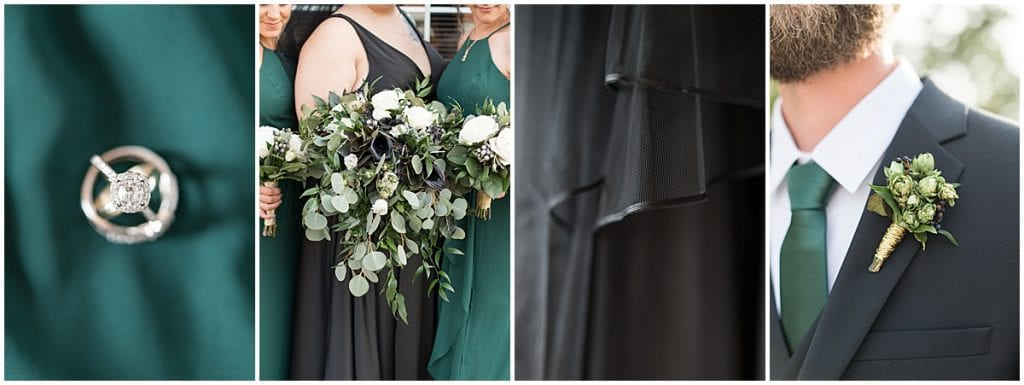 Details from eMbers Venue wedding in Rensselaer, Indiana
