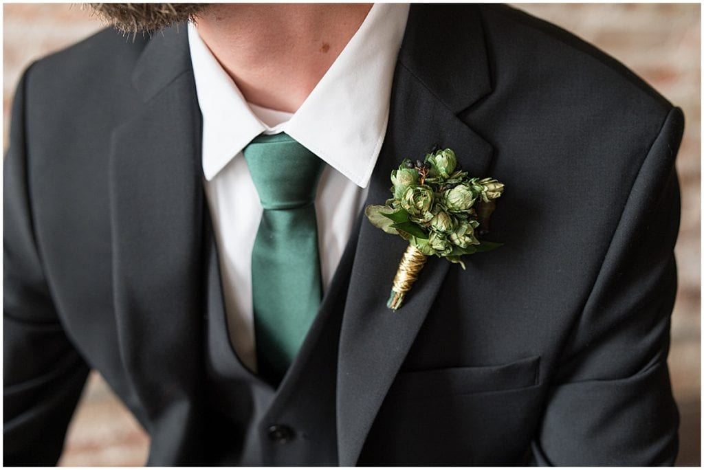 Groom details for eMbers Venue wedding in Rensselaer, Indiana
