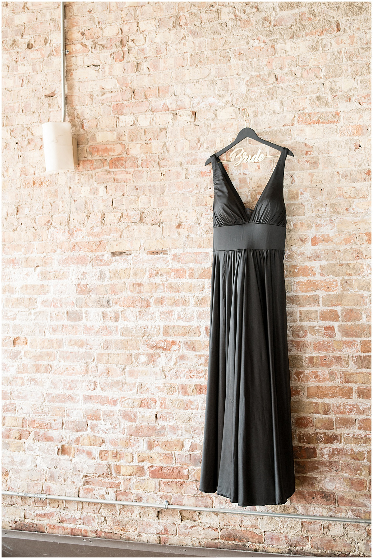 Black wedding dress for eMbers Venue wedding