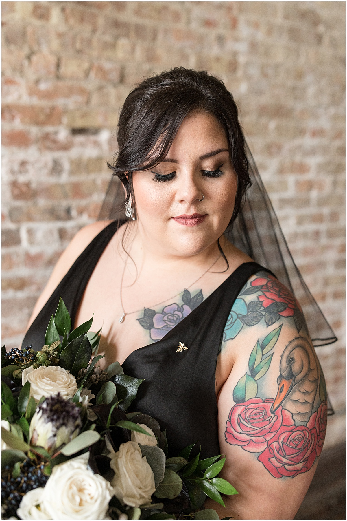 Bride portraits for eMbers Venue wedding in Rensselaer, Indiana