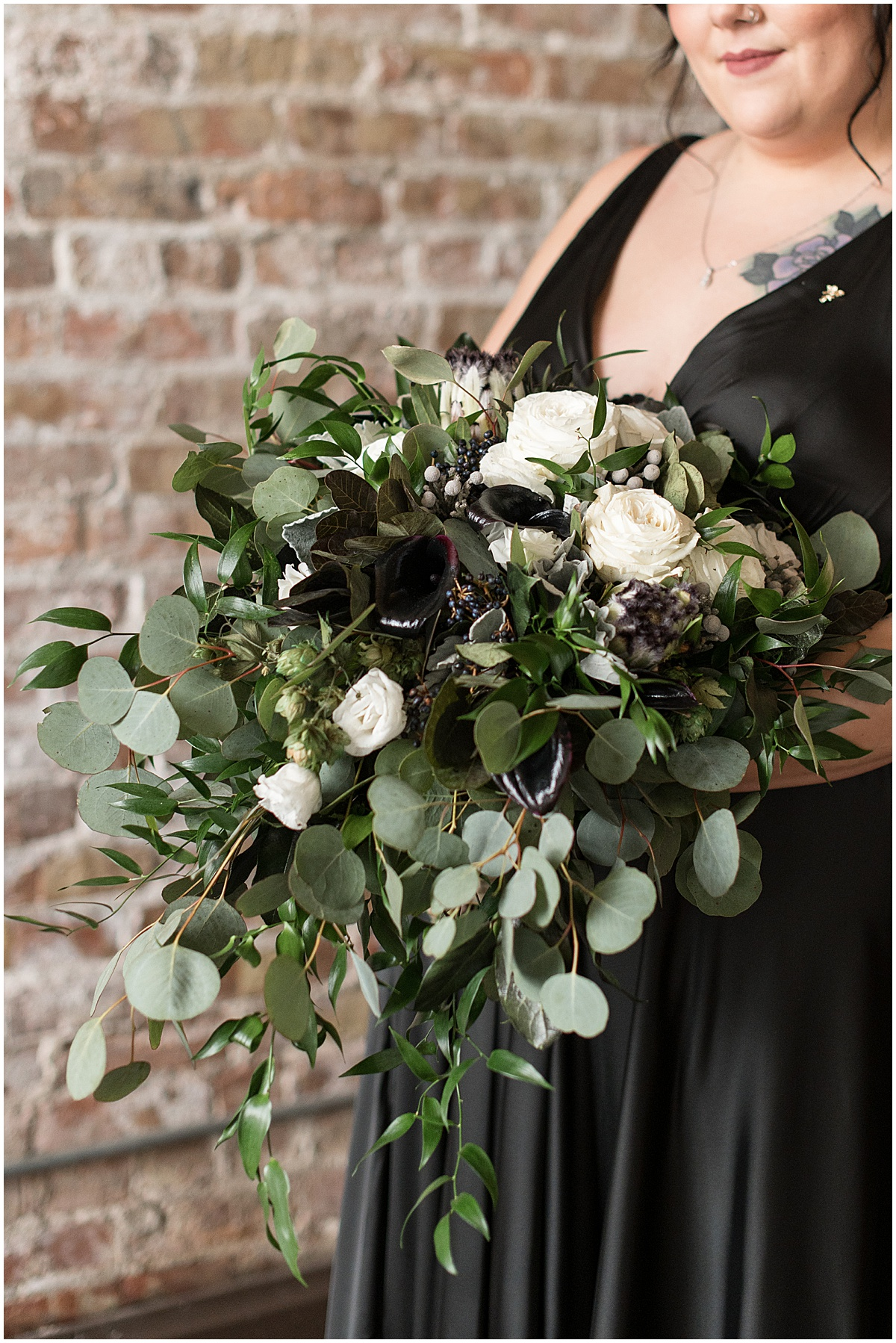 Bridal bouquet for eMbers Venue wedding in Rensselaer, Indiana