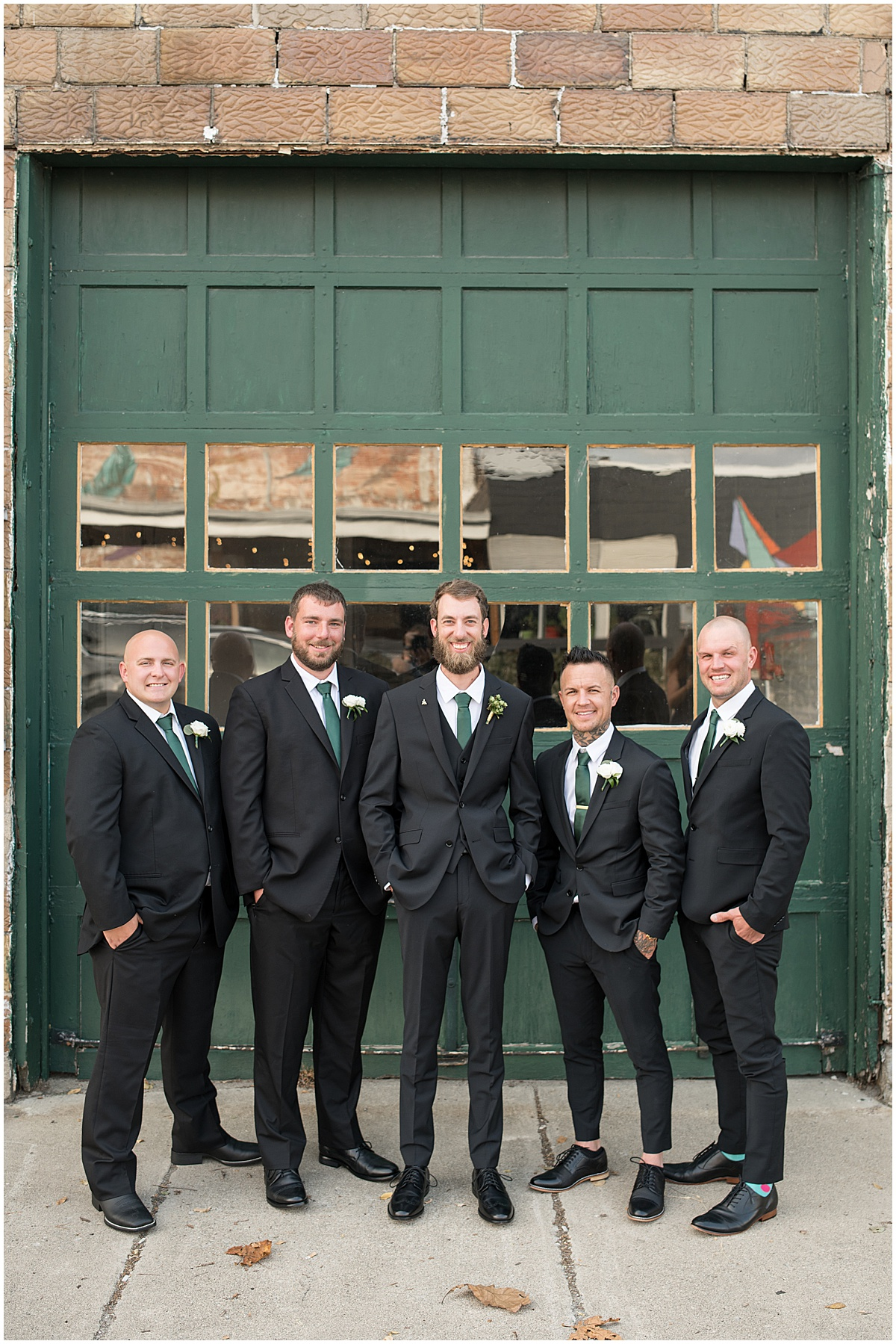 Groom with groomsmen ready for eMbers Venue wedding