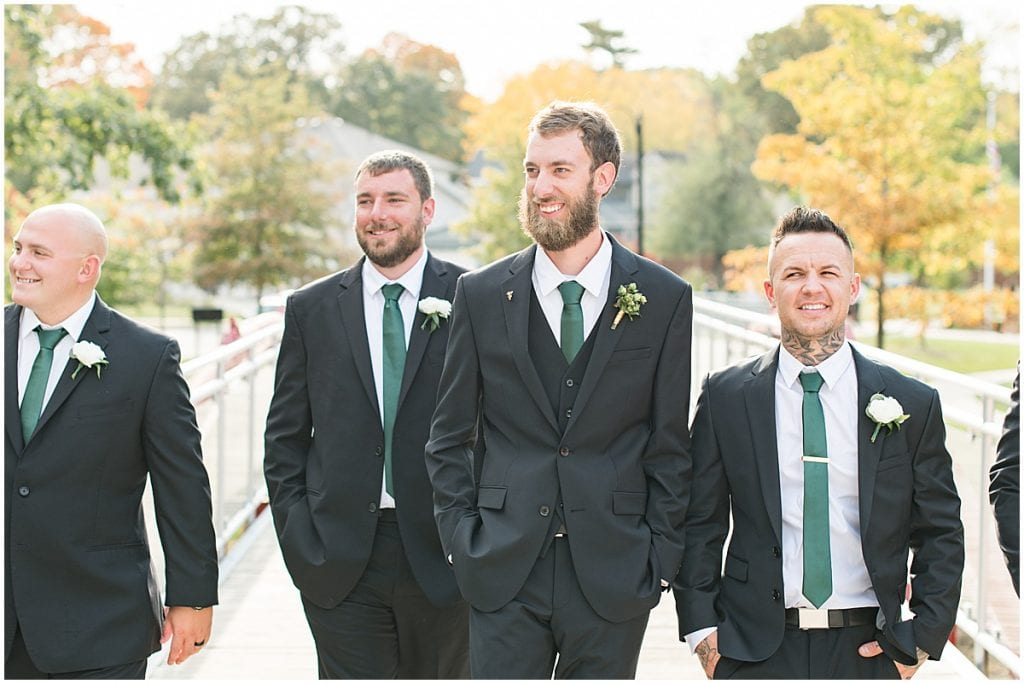 Groom and groomsmen in Rensselaer, Indiana