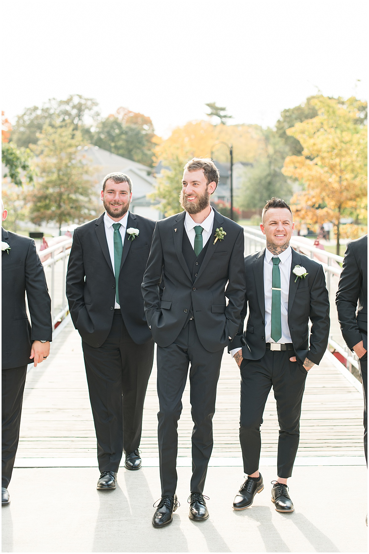 Groomsmen ready for eMbers Venue wedding in Rensselaer, Indiana