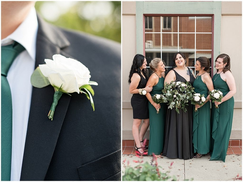 Bridal party photos in Rensselaer, Indiana