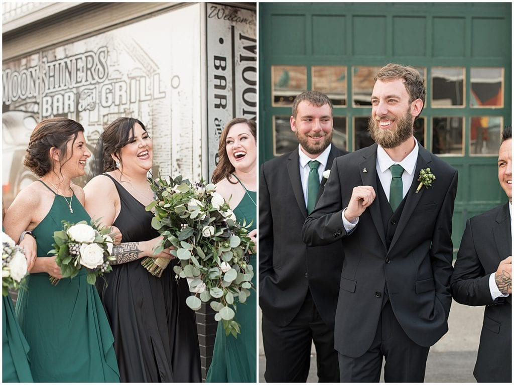 Bridal party excited for eMbers Venue wedding in Rensselaer, Indiana