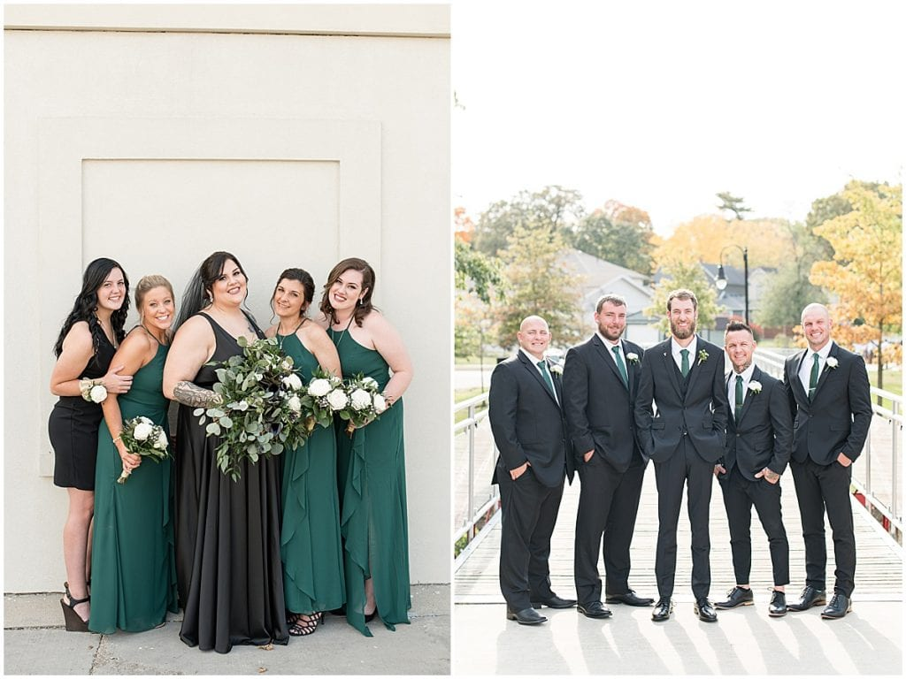 Bridal party for eMbers Venue wedding in Rensselaer, Indiana