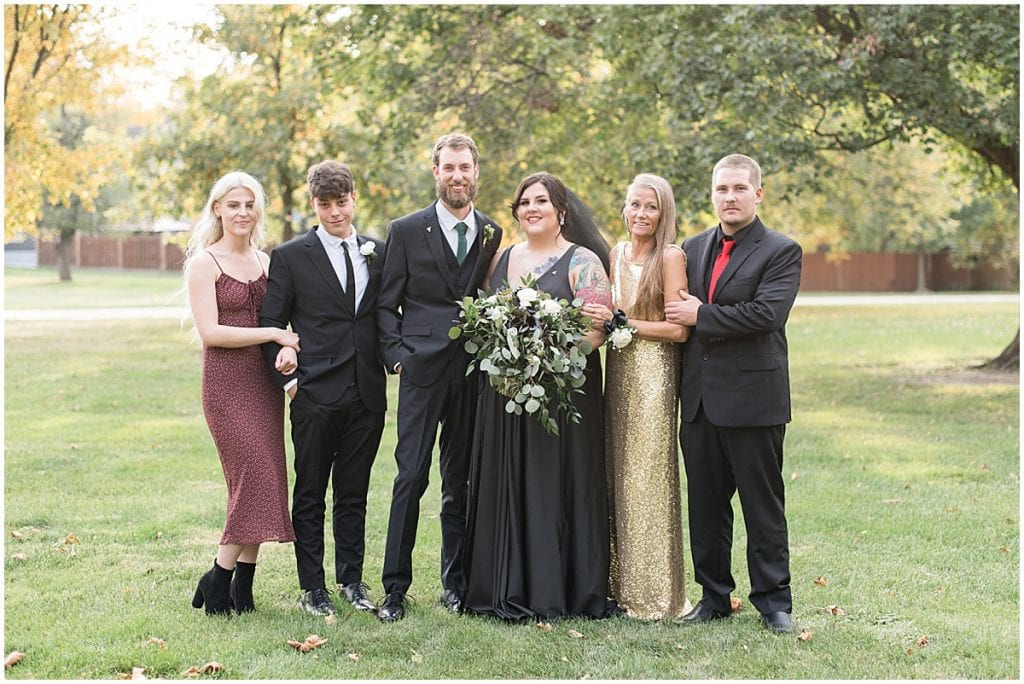 Family portraits after eMbers Venue wedding