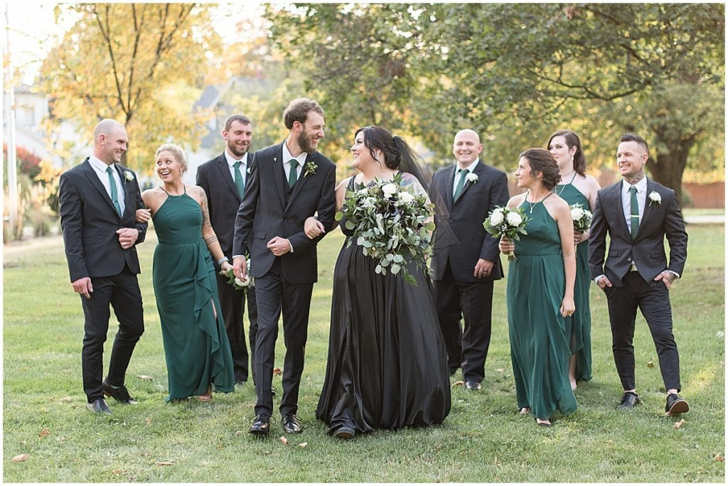 Bridal party portraits in Rensselaer, Indiana