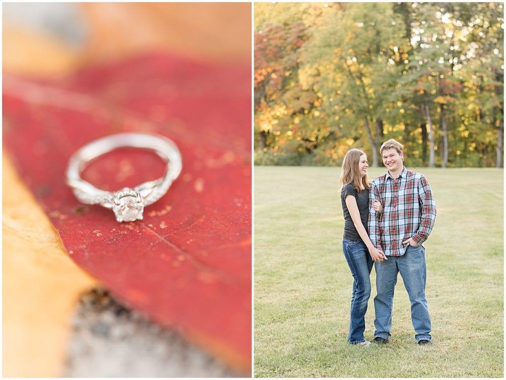 Fall engagement photos at Ross Hills Park