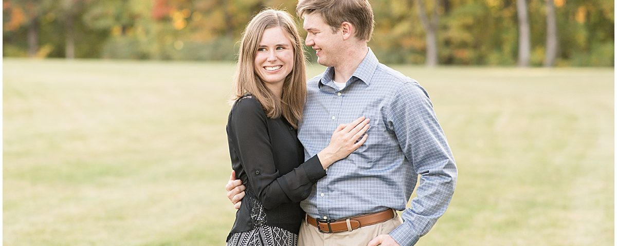 Engagement photos at Ross Hills Park in West Lafayette, Indiana