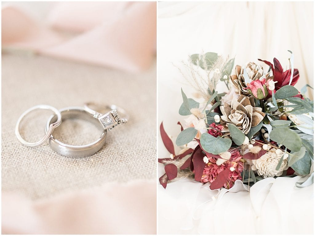 Bridal details for fall wedding in Lafayette, Indiana