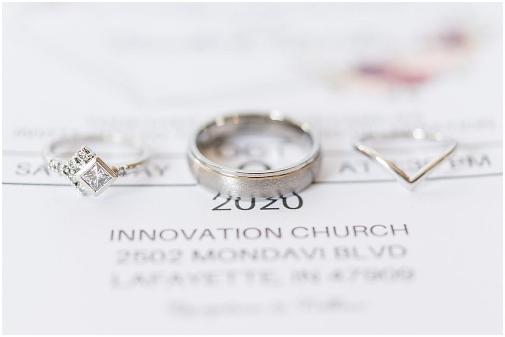 Wedding ring detail at Innovation Church in Lafayette, Indiana