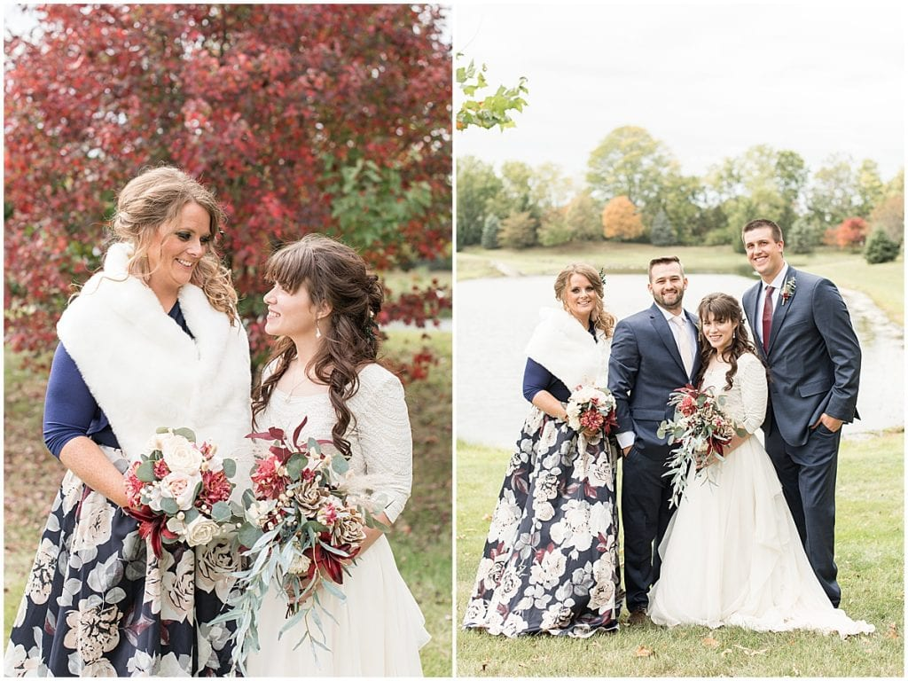 Wedding party portraits outside in Lafayette, Indiana