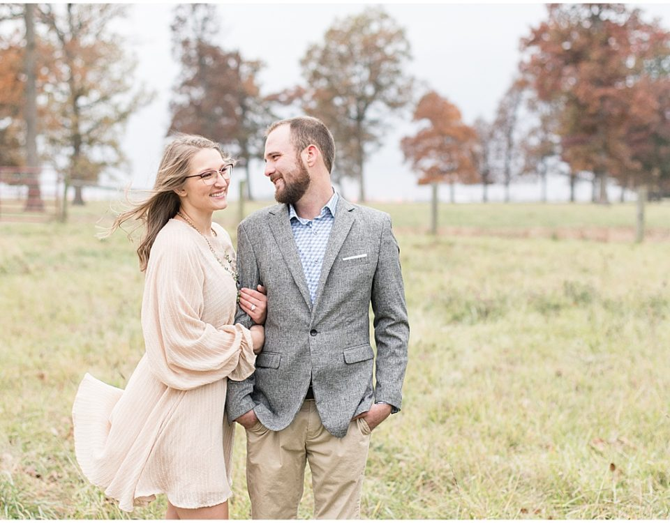 Fall engagement photos in Monticello, Indiana