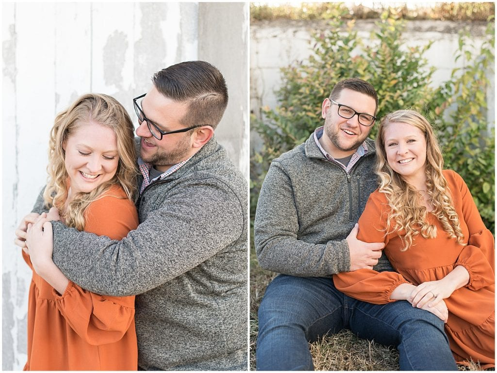 Fall engagement photos at Wea Creek Orchard in Lafayette, Indiana
