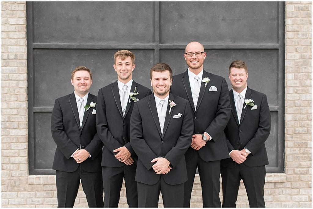 Groomsmen at Bel Air Events wedding in Kokomo, Indiana by Victoria Rayburn Photography
