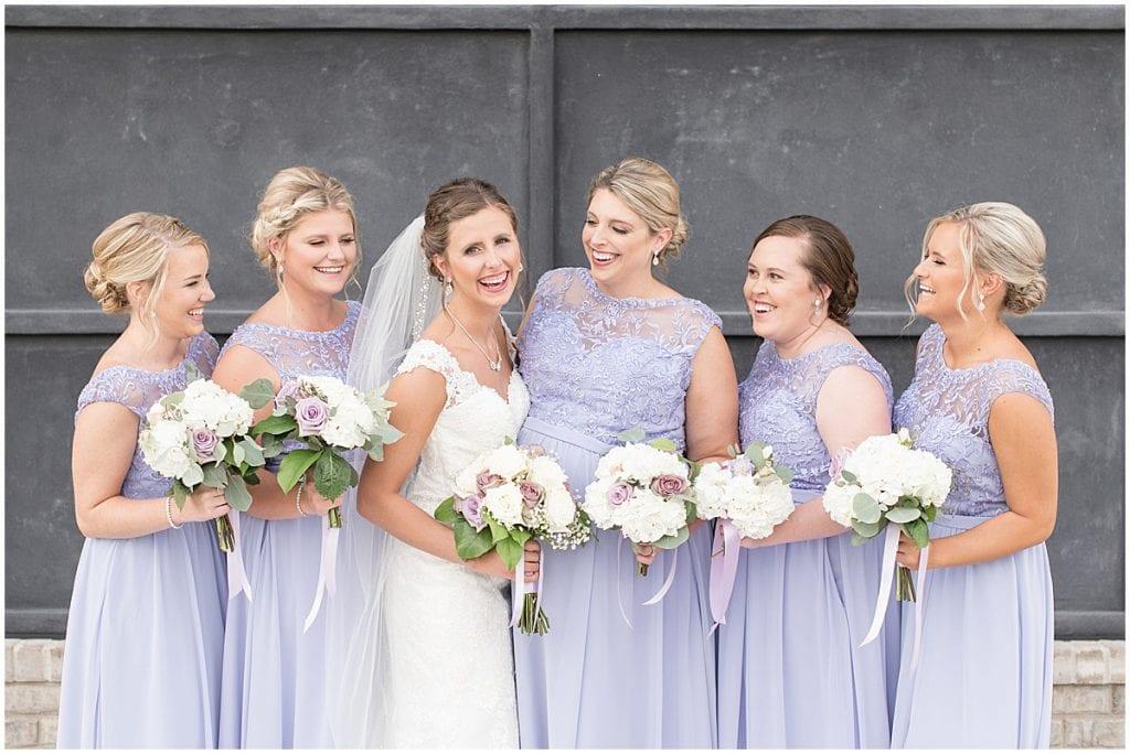 Bridesmaids at Bel Air Events wedding in Kokomo, Indiana by Victoria Rayburn Photography