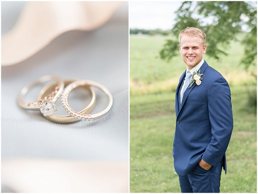 Groom portrait before The Blessing Barn in Lafayette, Indiana by Victoria Rayburn Photography