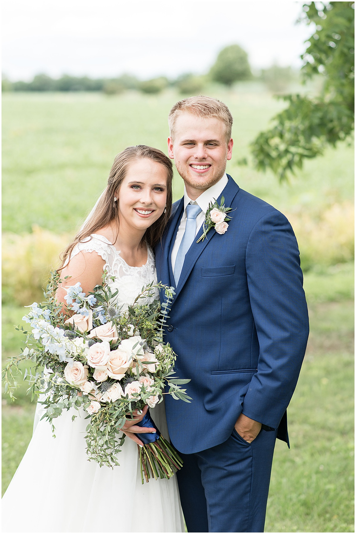 Bride and groom portrait at The Blessing Barn in Lafayette, Indiana by Victoria Rayburn Photography