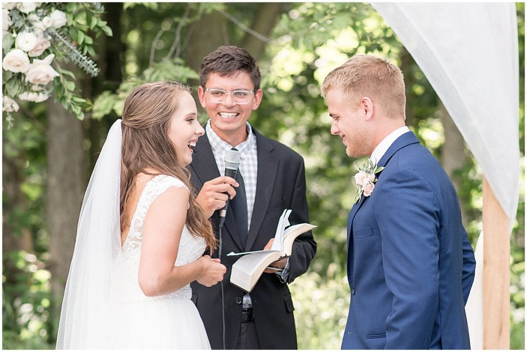 Ceremony at The Blessing Barn in Lafayette, Indiana by Victoria Rayburn Photography