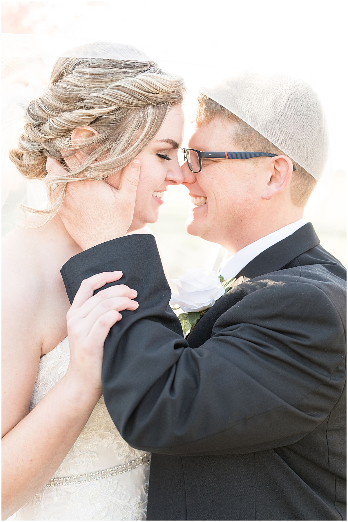 Just married photos at Cornerstone Christian Church wedding in Brownsburg, Indiana by Victoria Rayburn Photography