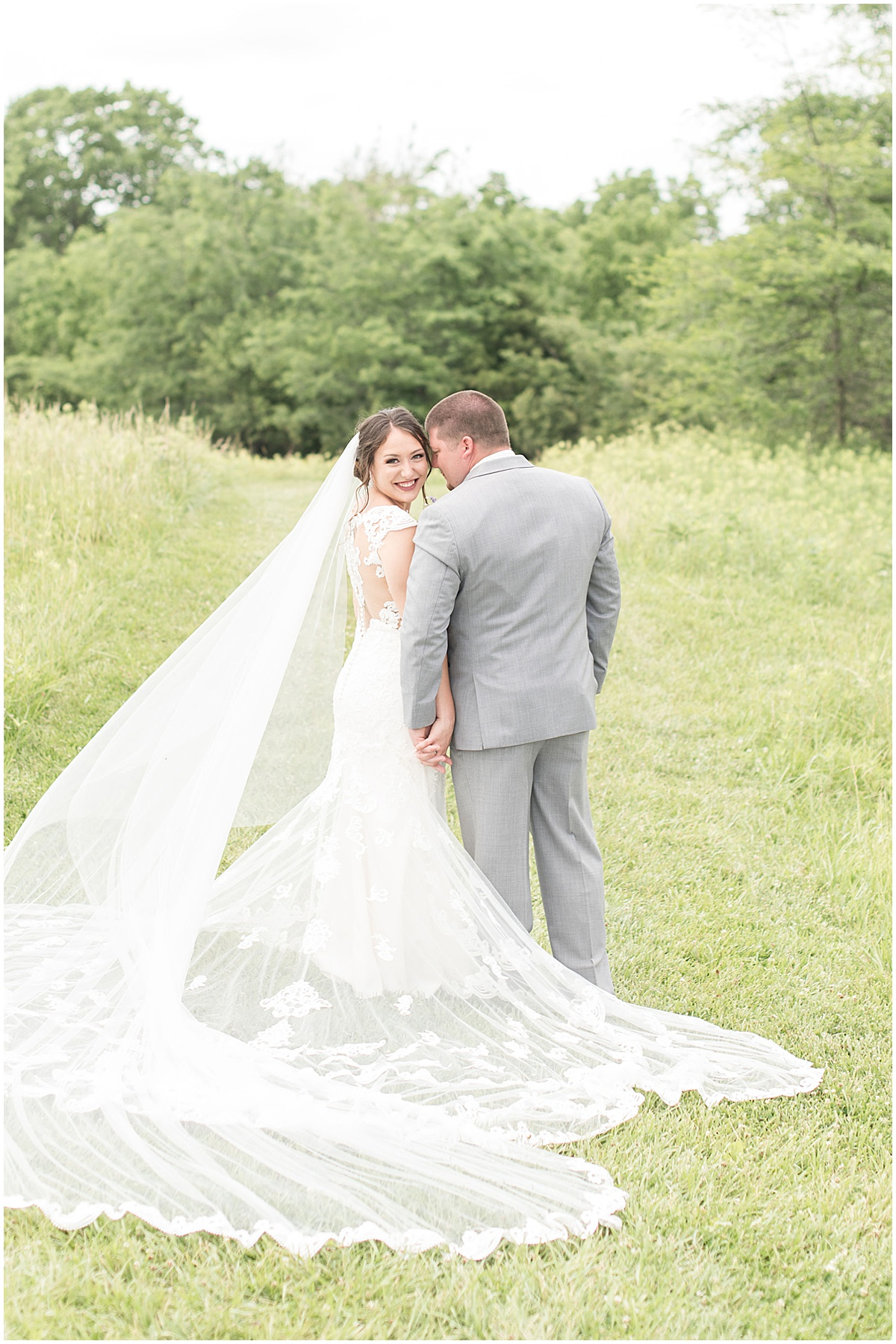 Bride and groom portraits before Hunny Creek Haven Wedding in Waldron, Indiana by Victoria Rayburn Photography