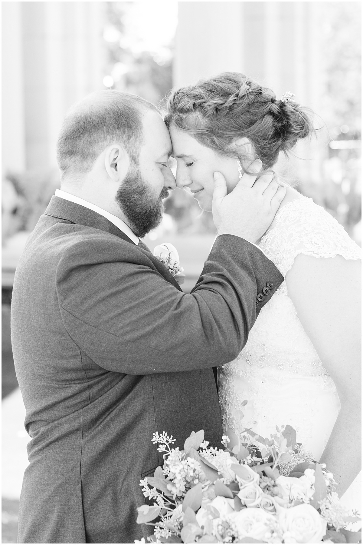 Just married photos after intimate wedding at Holliday Park in Indianapolis by Victoria Rayburn Photography