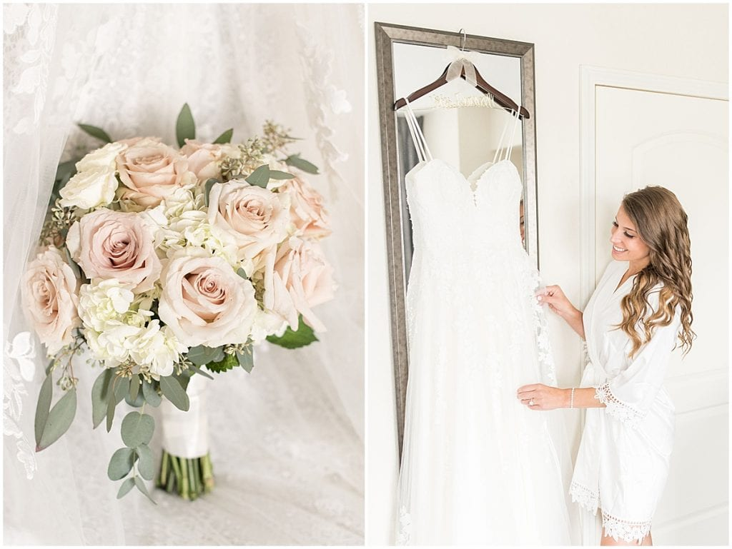 Bridal details for wedding at The Lighthouse Restaurant in Cedar Lake, Indiana by Victoria Rayburn Photography