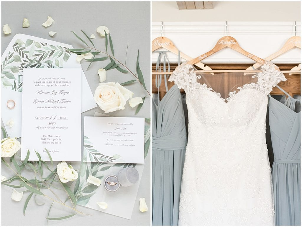 Bridal details for wedding at The Matterhorn in Elkhart, Indiana by Victoria Rayburn Photography