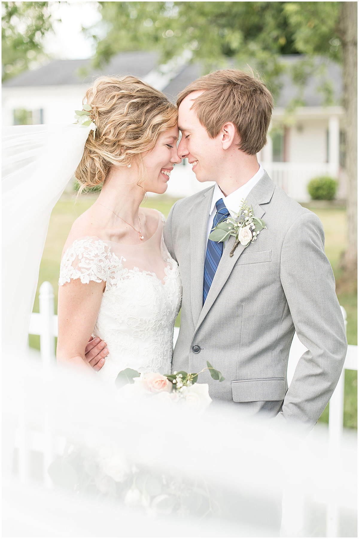 Bride and groom after wedding at The Matterhorn in Elkhart, Indiana by Victoria Rayburn Photography