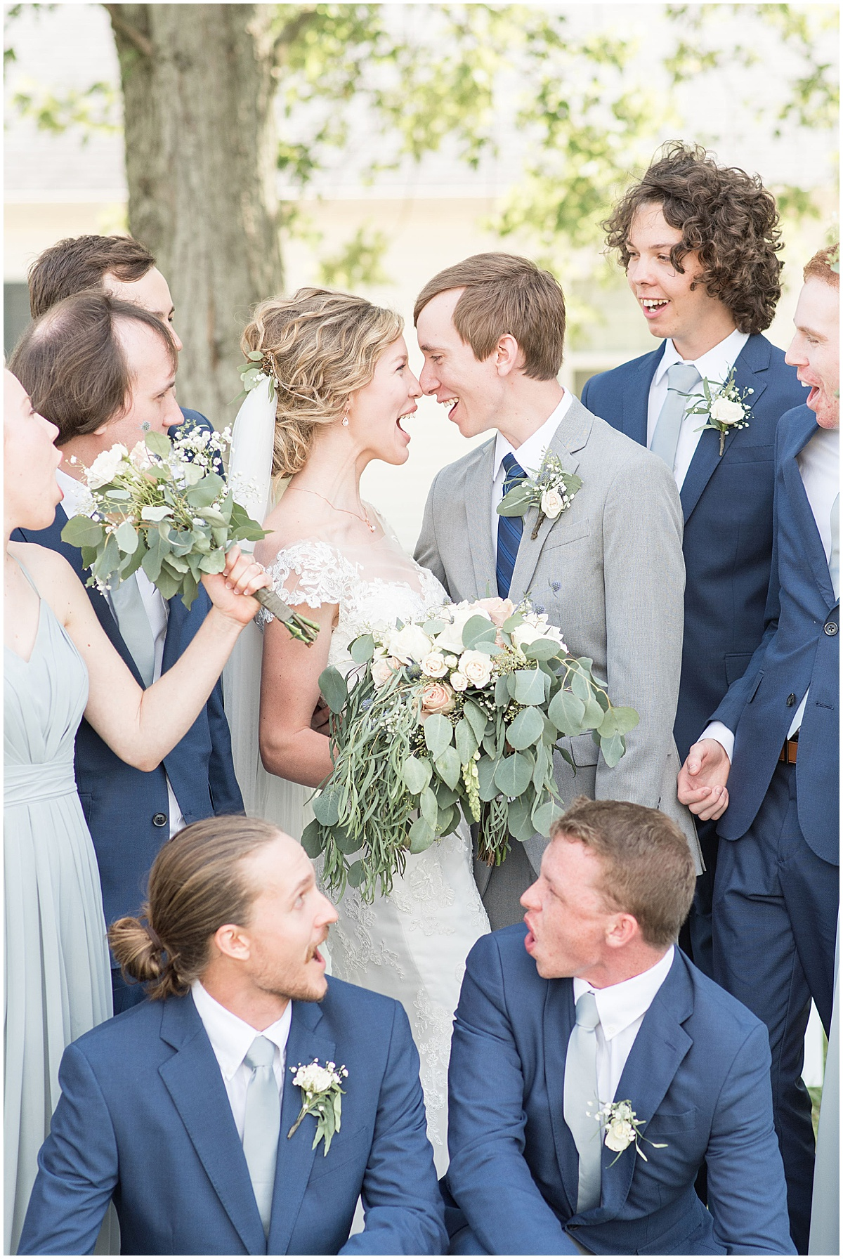 Bridal party photos at wedding at The Matterhorn in Elkhart, Indiana by Victoria Rayburn Photography