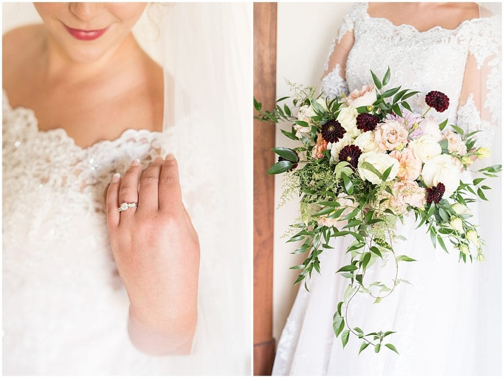 Bridal details for Meadow Springs Manor wedding in Francesville, Indiana by Victoria Rayburn Photography