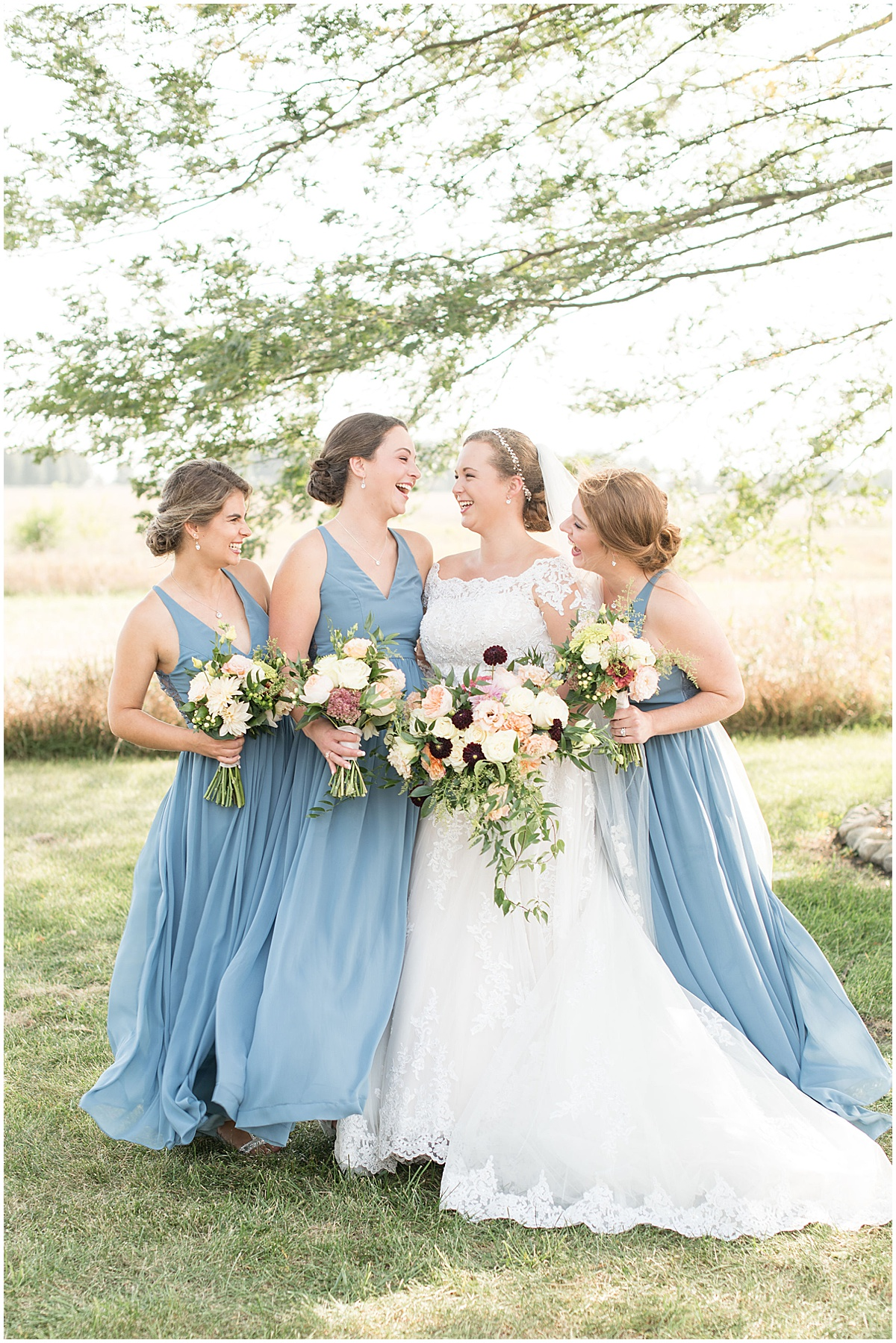 Bridesmaids ready for Meadow Springs Manor wedding in Francesville, Indiana by Victoria Rayburn Photography