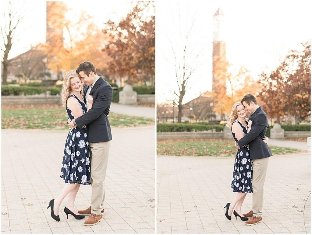 November engagement photos at Purdue University