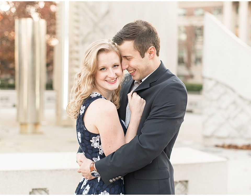 November engagement photos at Purdue University