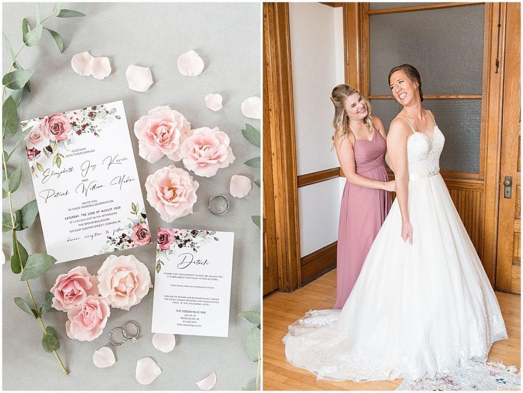 Bridal details for Spohn Ballroom wedding in Goshen, Indiana by Victoria Rayburn Photography