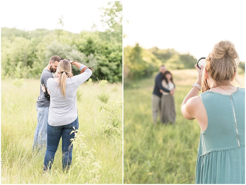 Victoria Rayburn and Olivia Emond photographing engagement session