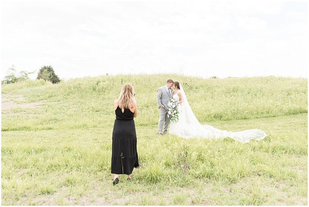 Victoria Rayburn—Lafayette, Indiana wedding photographer—photographing bride and groom