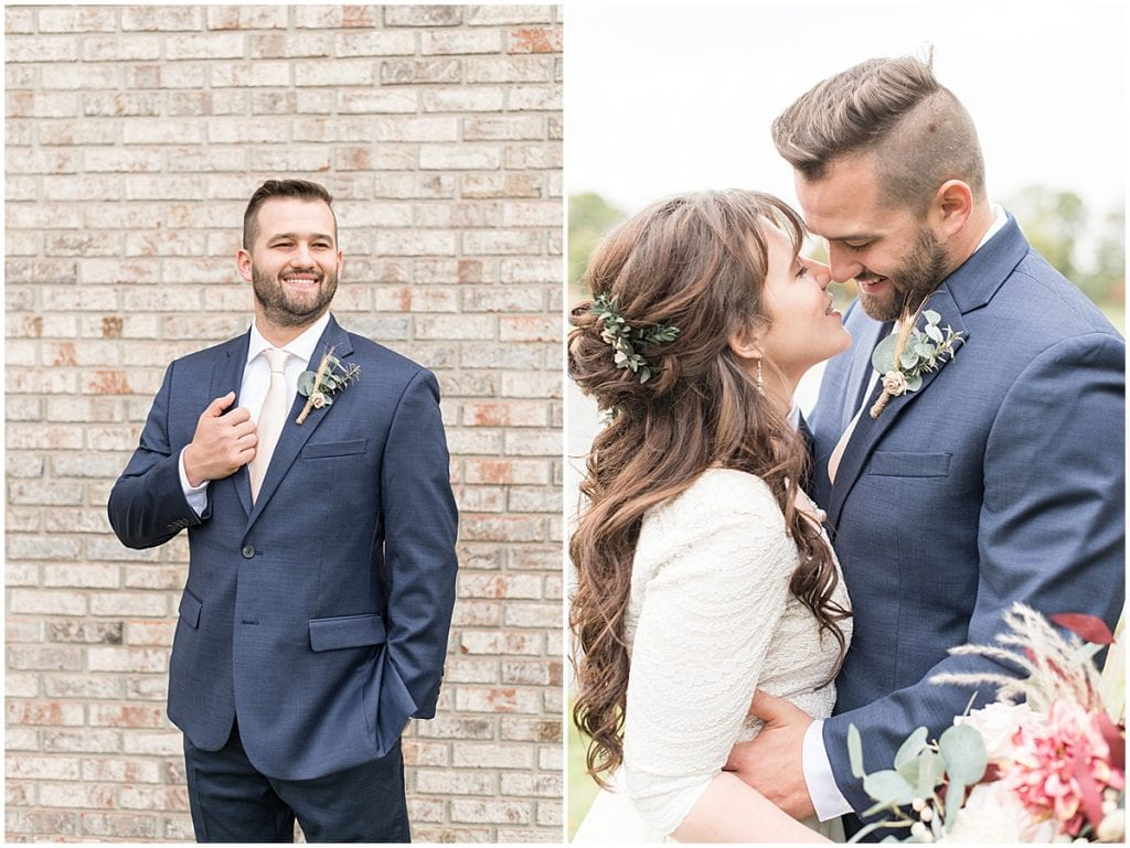 Groom ready for wedding at Innovation Church in Lafayette, Indiana by Victoria Rayburn Photography