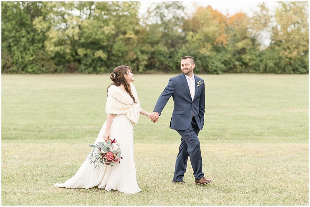 Bride and groom portraits before wedding at Innovation Church in Lafayette, Indiana by Victoria Rayburn Photography